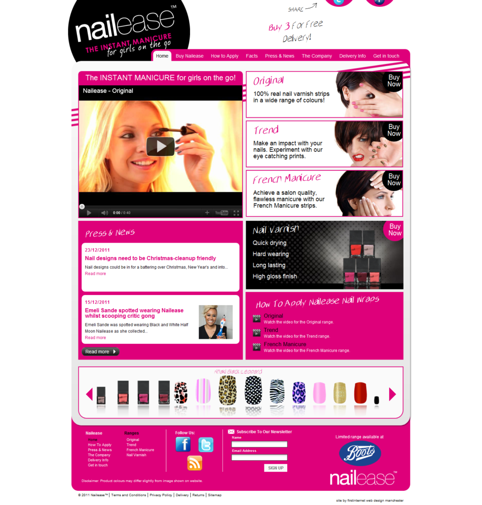 Nailease    The INSTANT MANICURE for girls on the go