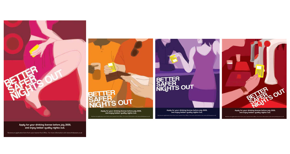 Poster Set 01 - Better Safer Nights Out