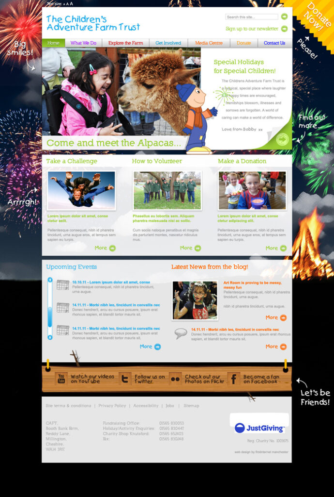 CAFT Homepage Bonfire
